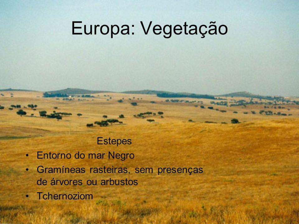 Europa: Vegetação Estepes Entorno do mar Negro