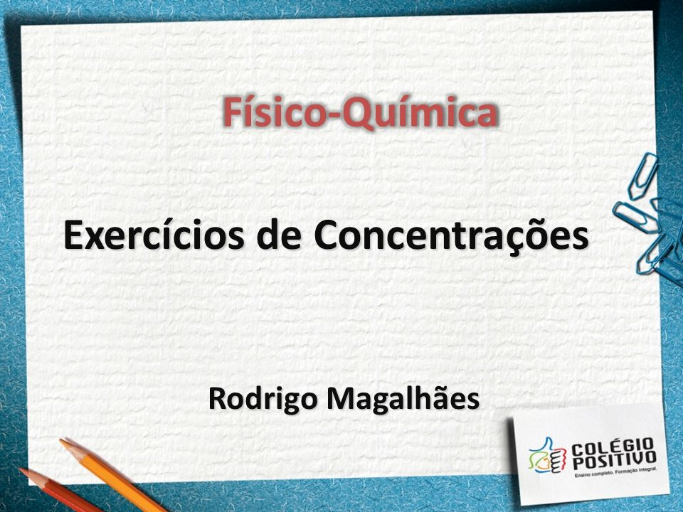 Exercícios de Concentrações