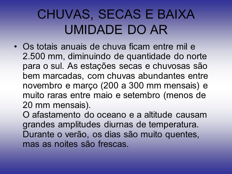 CHUVAS, SECAS E BAIXA UMIDADE DO AR
