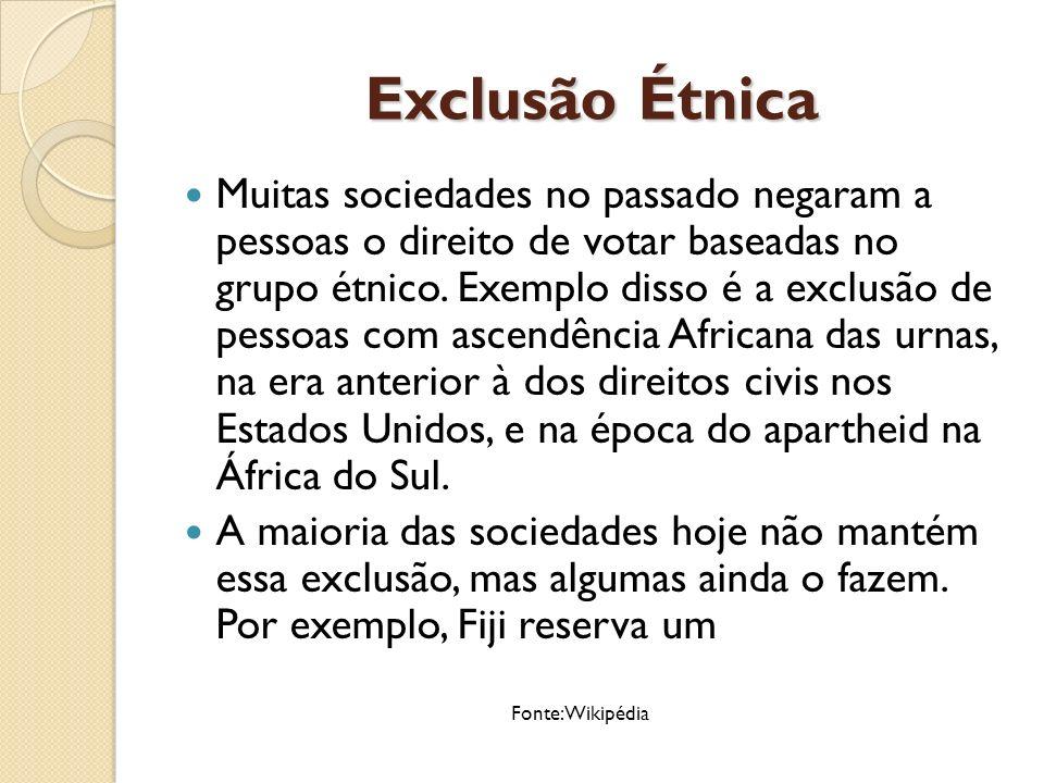Exclusão Étnica