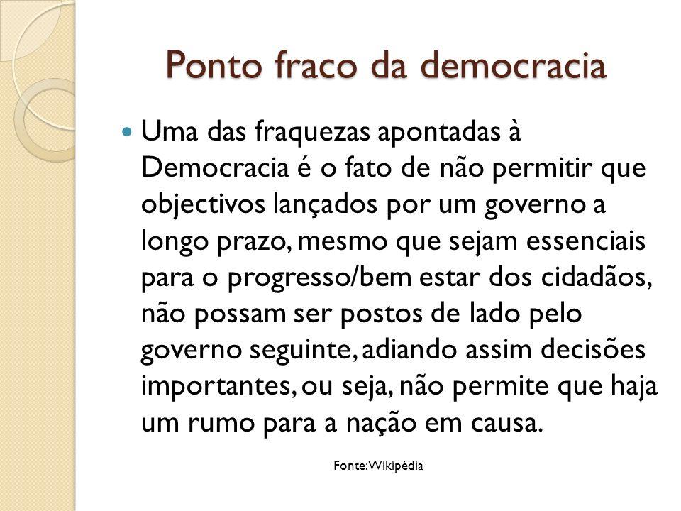 Ponto fraco da democracia