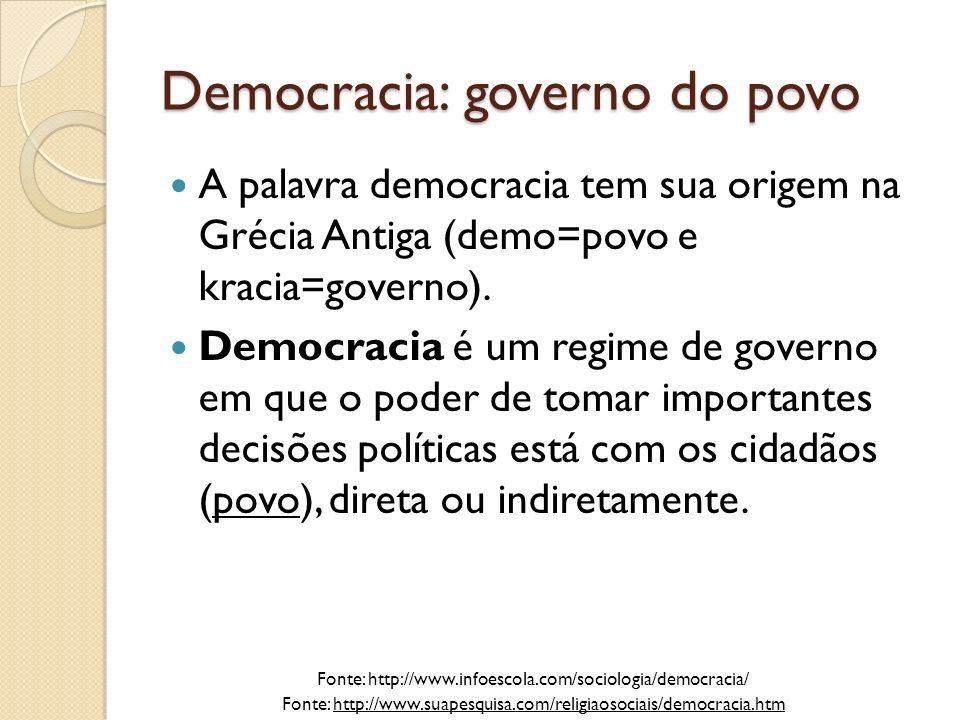 Democracia: governo do povo