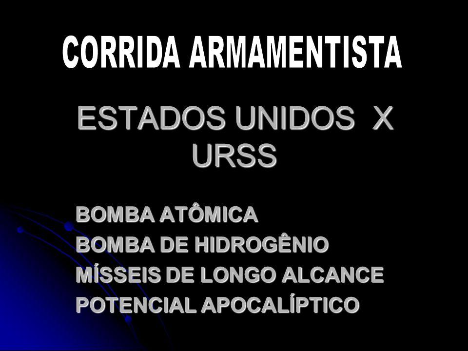 ESTADOS UNIDOS X URSS CORRIDA ARMAMENTISTA BOMBA ATÔMICA