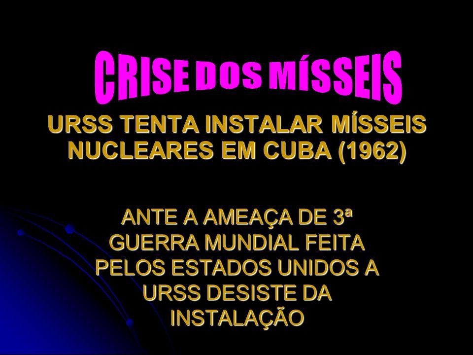 URSS TENTA INSTALAR MÍSSEIS NUCLEARES EM CUBA (1962)
