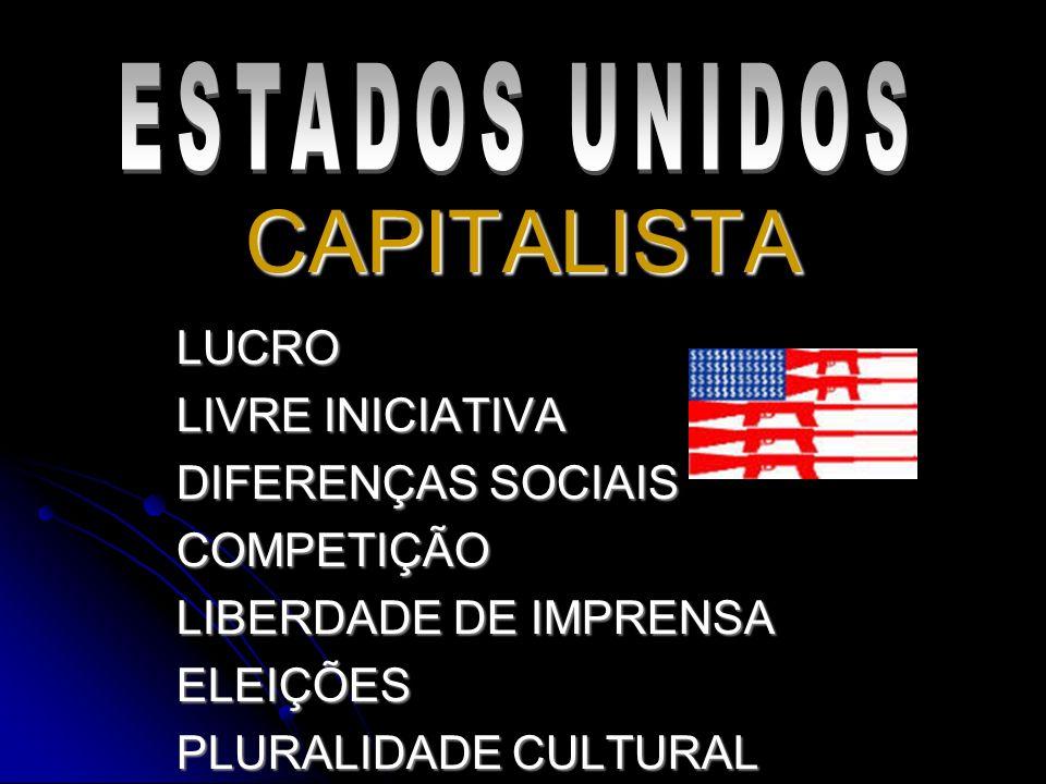CAPITALISTA ESTADOS UNIDOS LUCRO LIVRE INICIATIVA DIFERENÇAS SOCIAIS