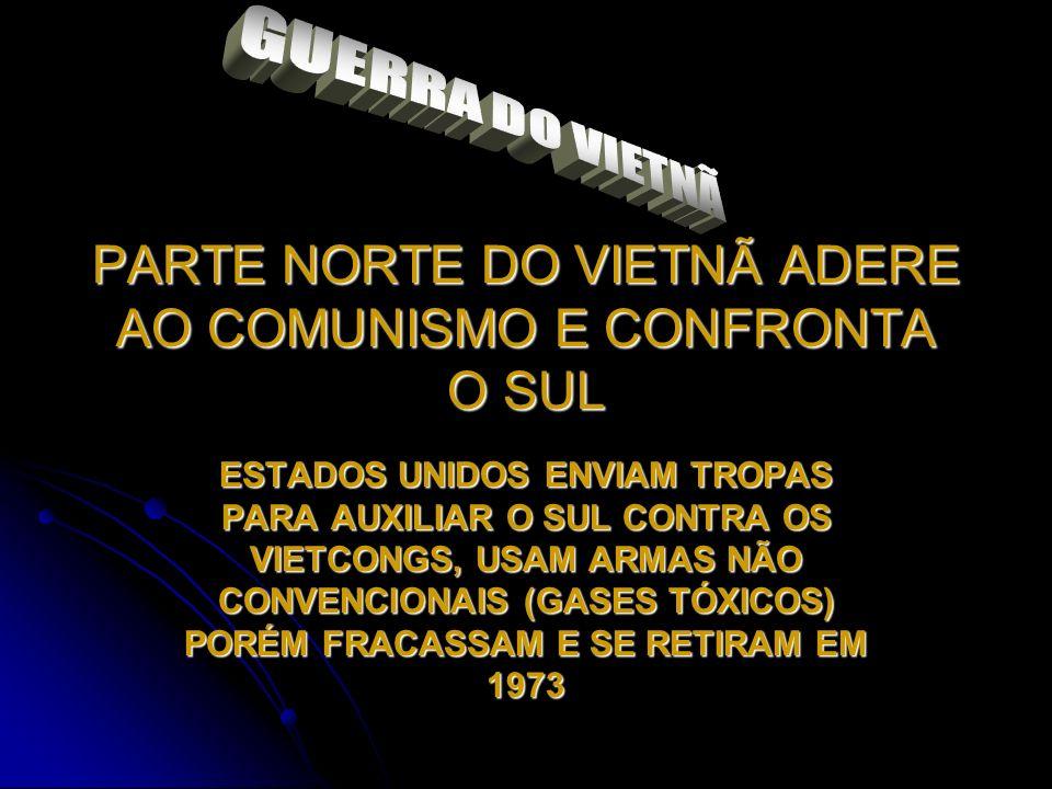 PARTE NORTE DO VIETNÃ ADERE AO COMUNISMO E CONFRONTA O SUL