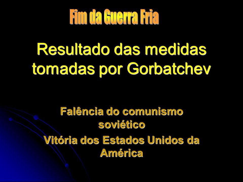 Resultado das medidas tomadas por Gorbatchev