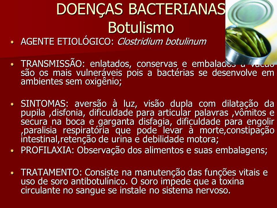 DOENÇAS BACTERIANAS Botulismo