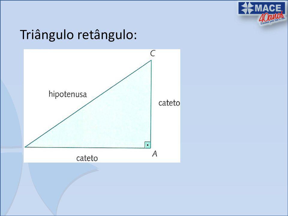 Triângulo retângulo: