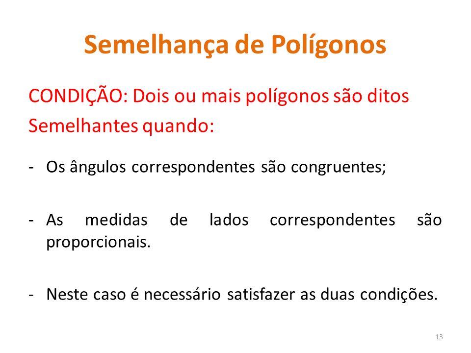 Semelhança de Polígonos