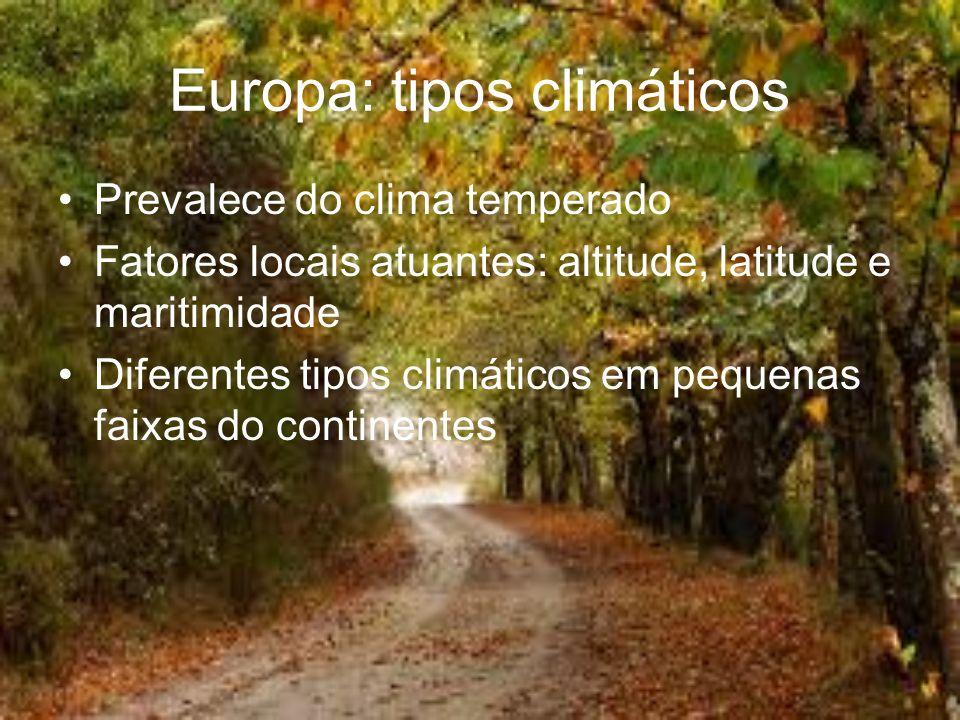 Europa: tipos climáticos