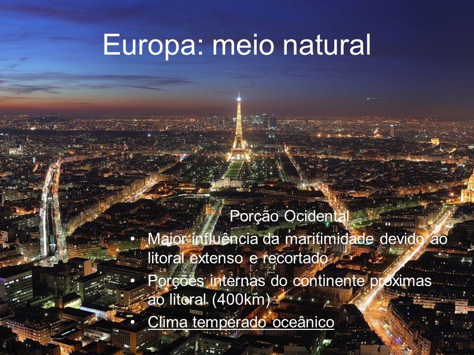 Europa: meio natural Porção Ocidental