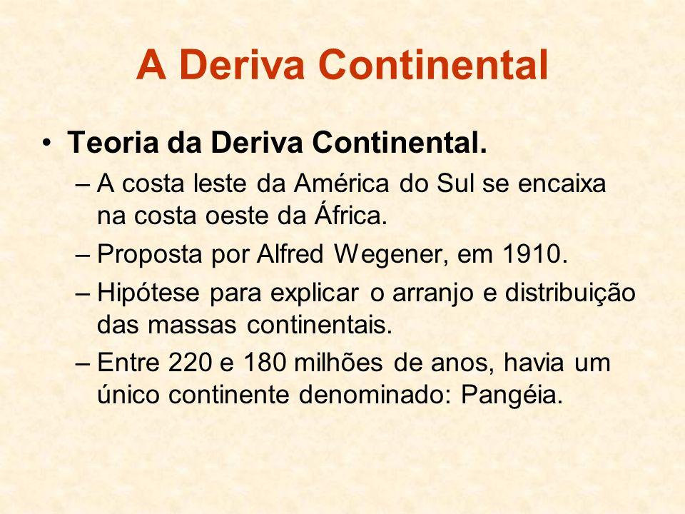 A Deriva Continental Teoria da Deriva Continental.