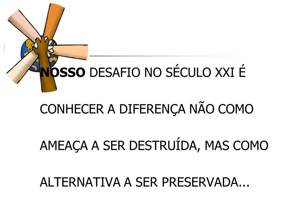 NOSSO DESAFIO NO SÉCULO XXI É
