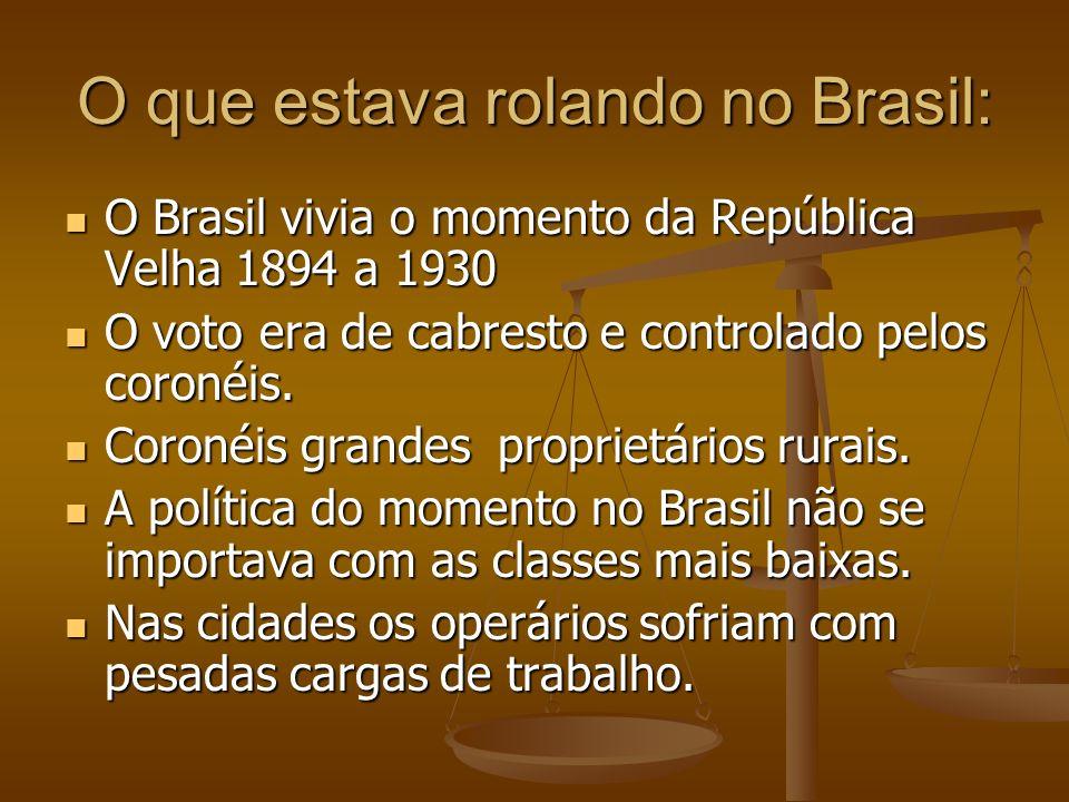 O que estava rolando no Brasil: