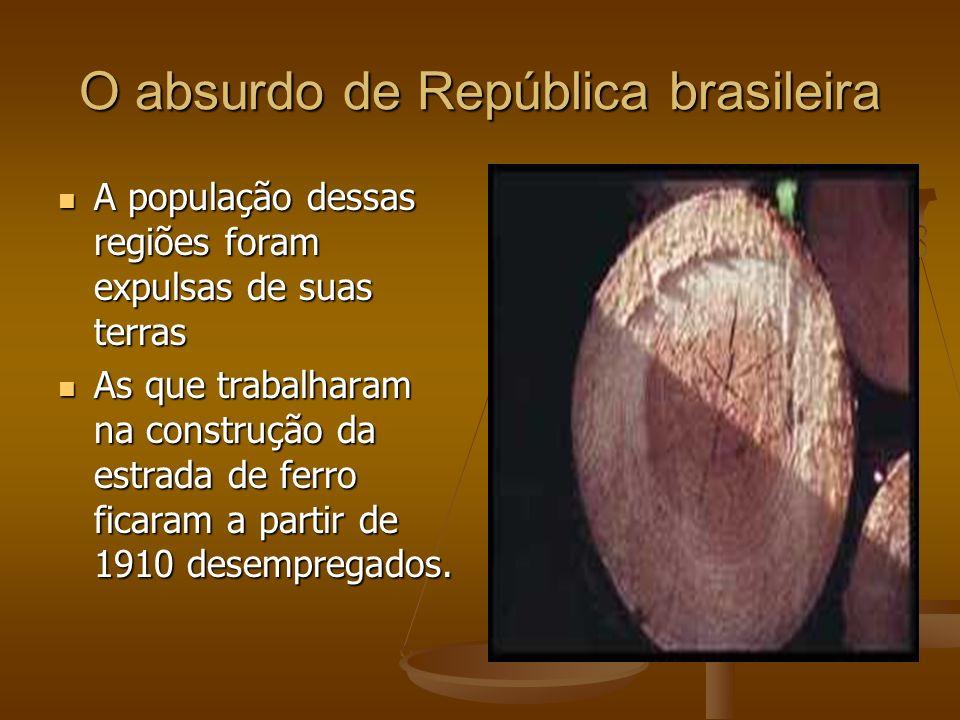 O absurdo de República brasileira