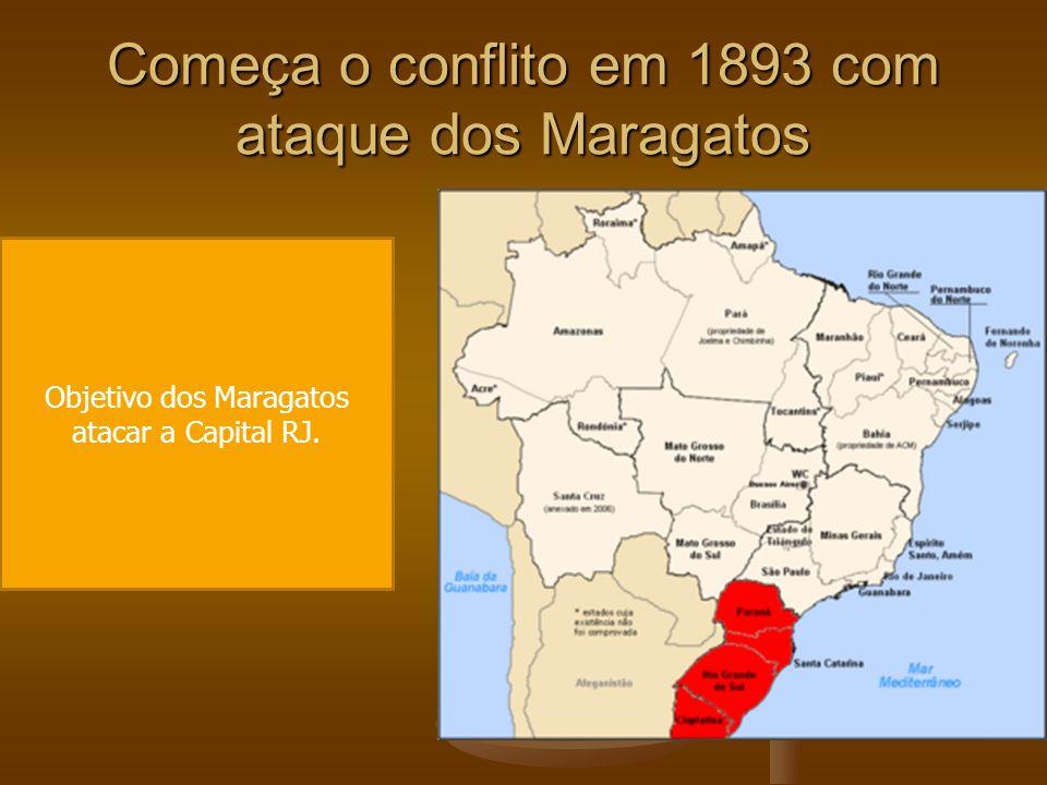 Começa o conflito em 1893 com ataque dos Maragatos
