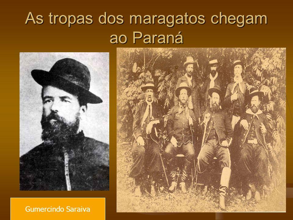 As tropas dos maragatos chegam ao Paraná