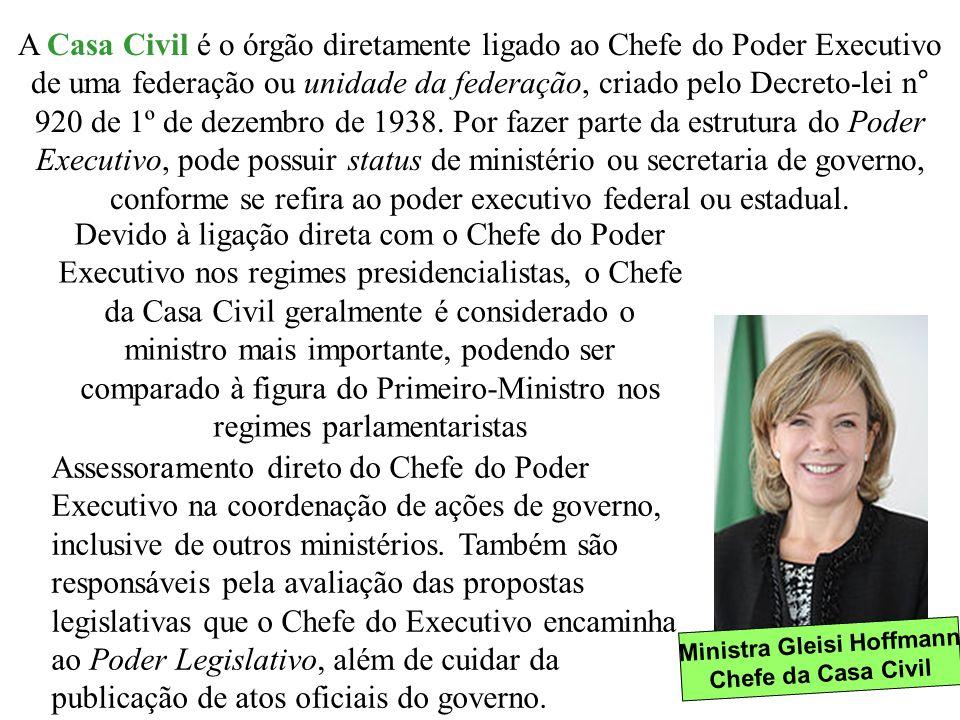 Ministra Gleisi Hoffmann