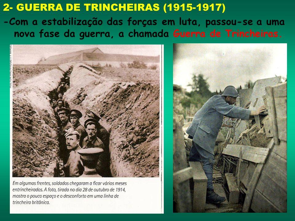 2- GUERRA DE TRINCHEIRAS (1915-1917)
