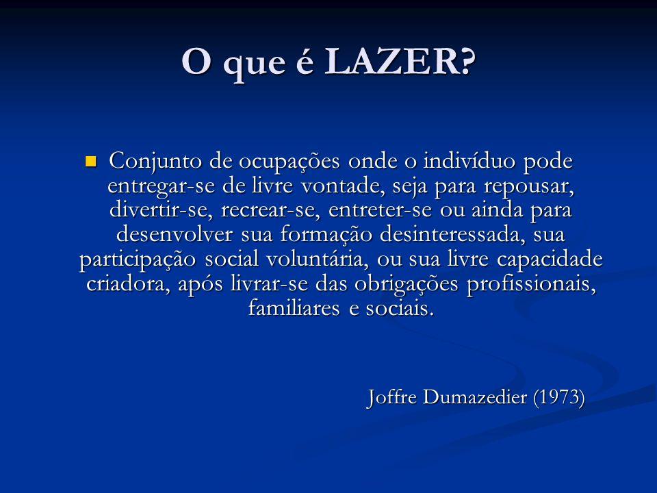 O que é LAZER