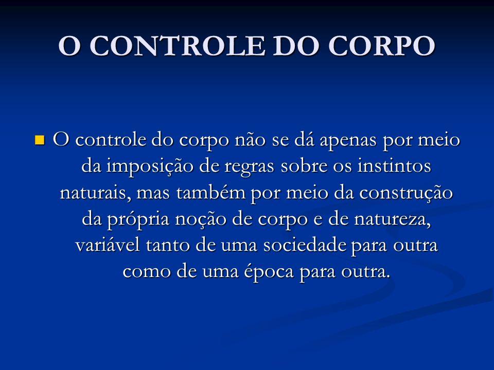 O CONTROLE DO CORPO