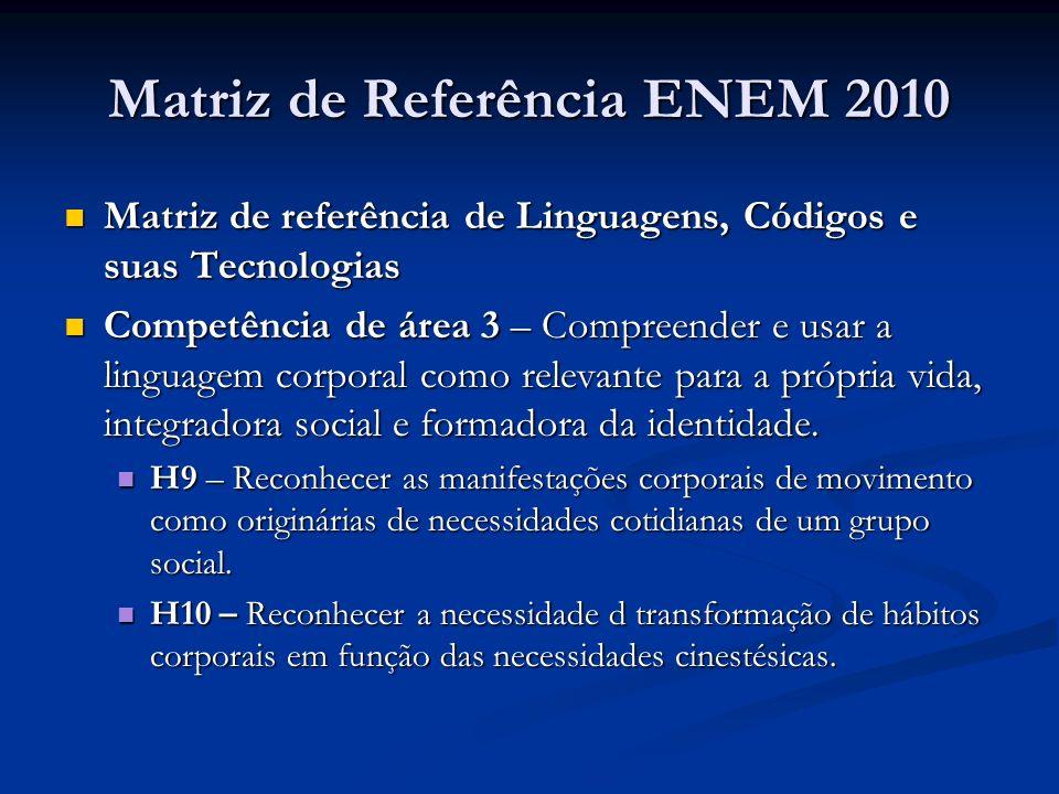 Matriz de Referência ENEM 2010