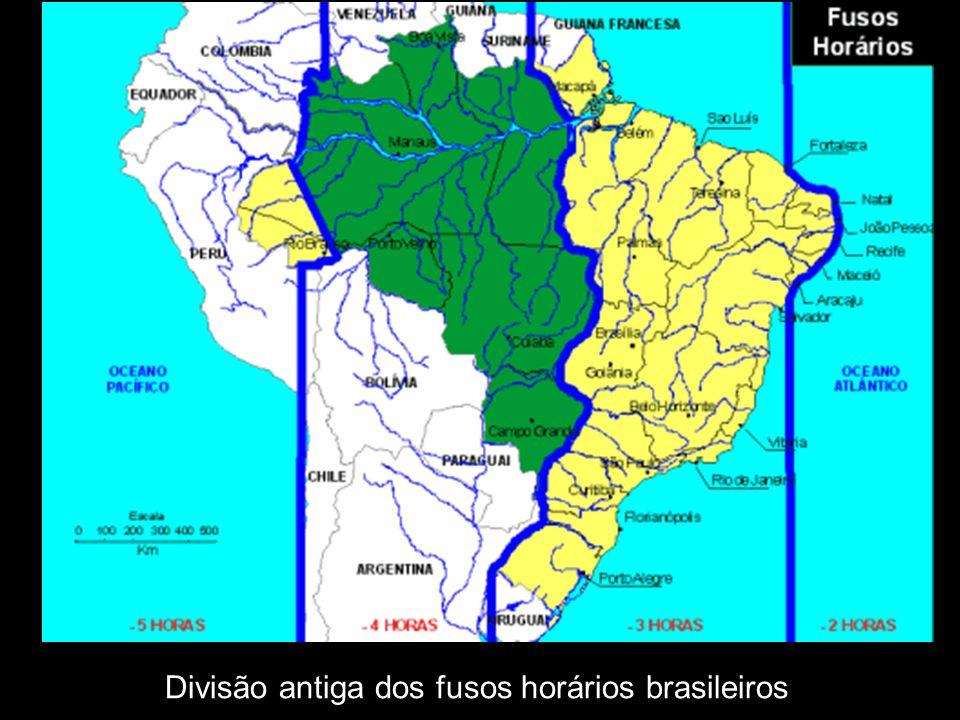 Divisão antiga dos fusos horários brasileiros