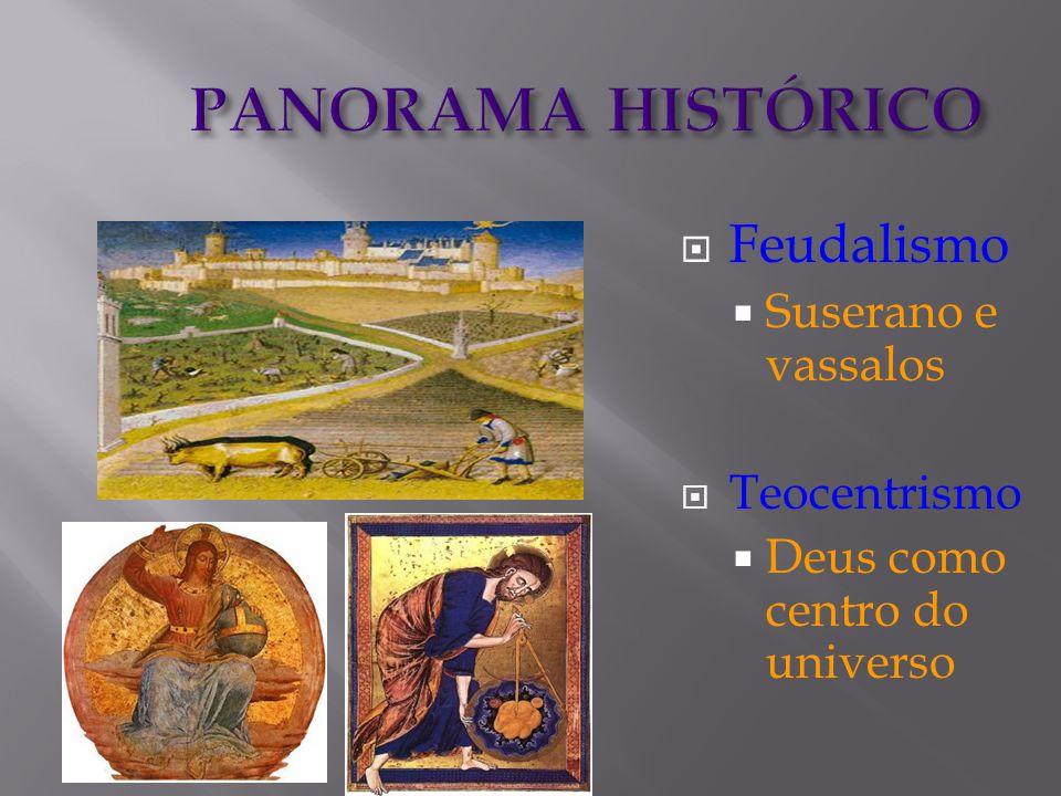 PANORAMA HISTÓRICO Feudalismo Suserano e vassalos Teocentrismo