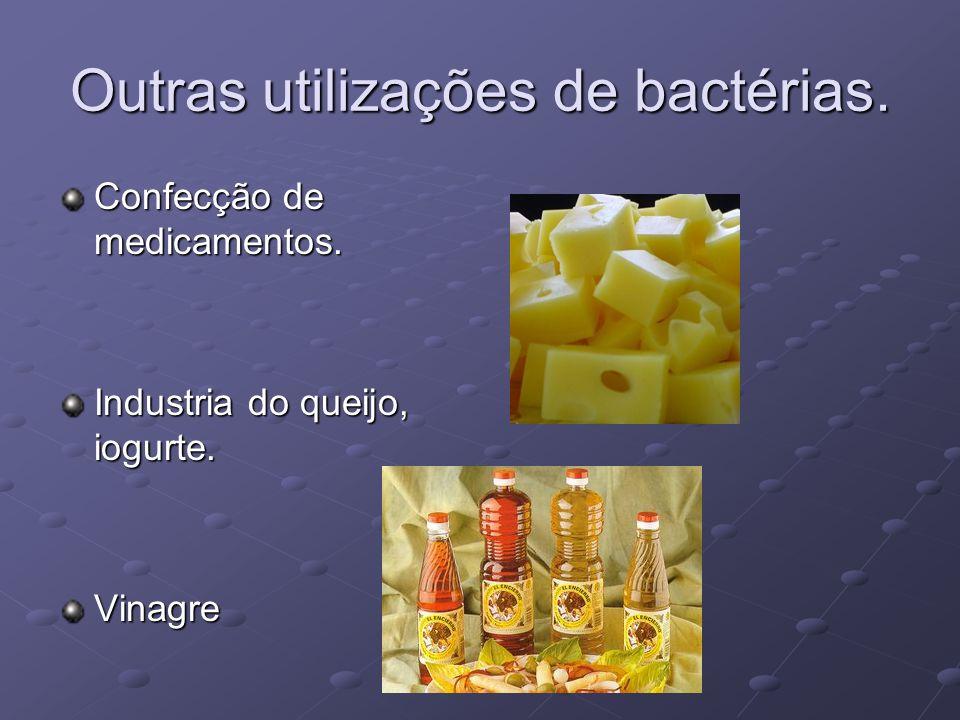 Outras utilizações de bactérias.