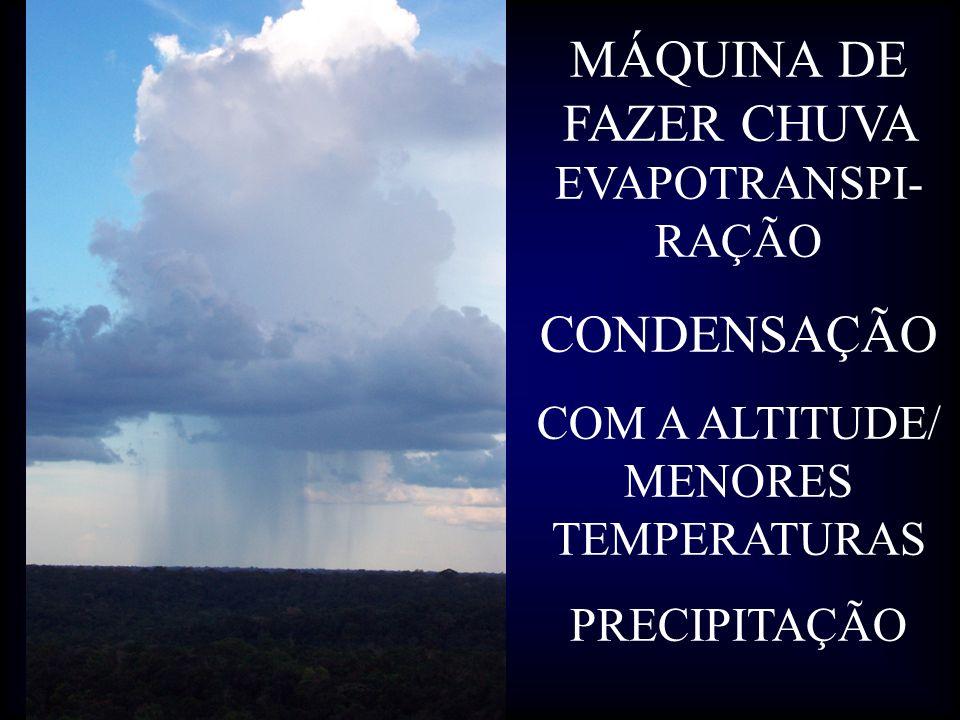 MÁQUINA DE FAZER CHUVA EVAPOTRANSPI-RAÇÃO
