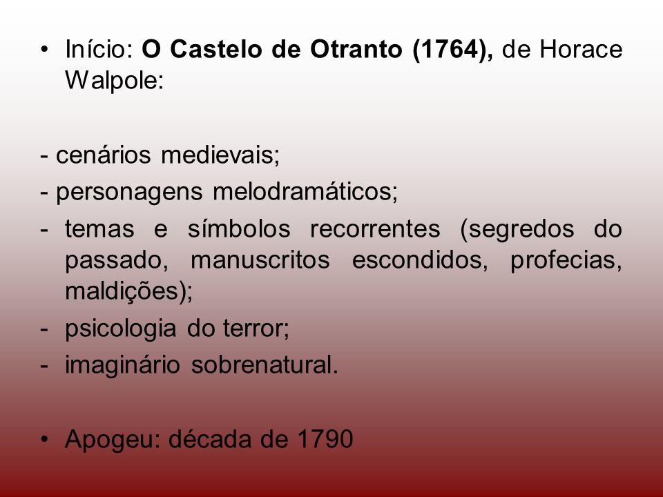 Início: O Castelo de Otranto (1764), de Horace Walpole: