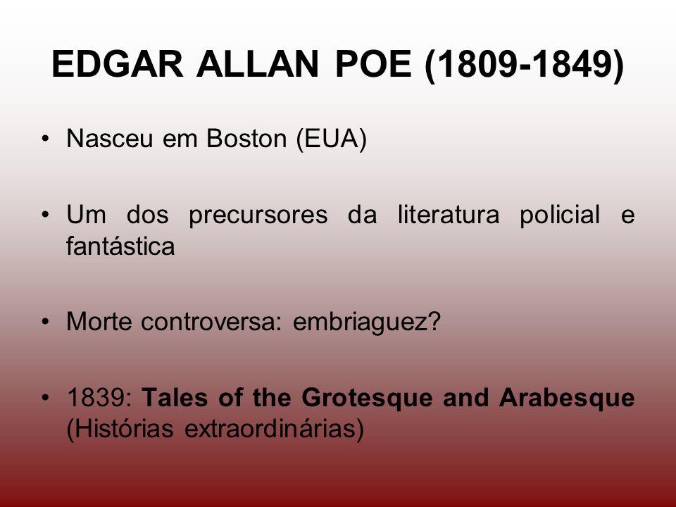 EDGAR ALLAN POE (1809-1849) Nasceu em Boston (EUA)
