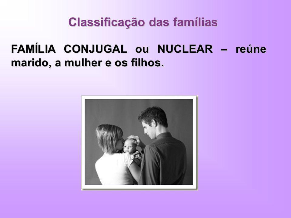 Classificação das famílias