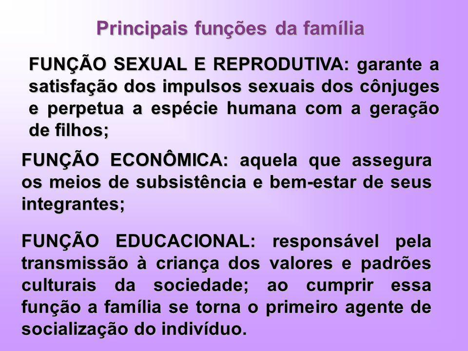 Principais funções da família