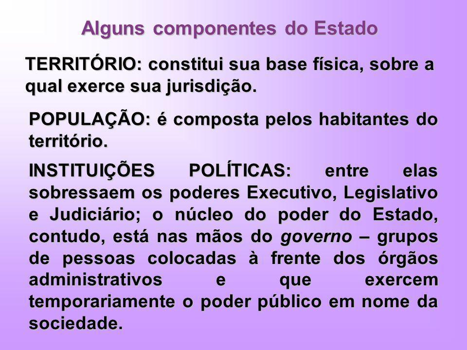 Alguns componentes do Estado