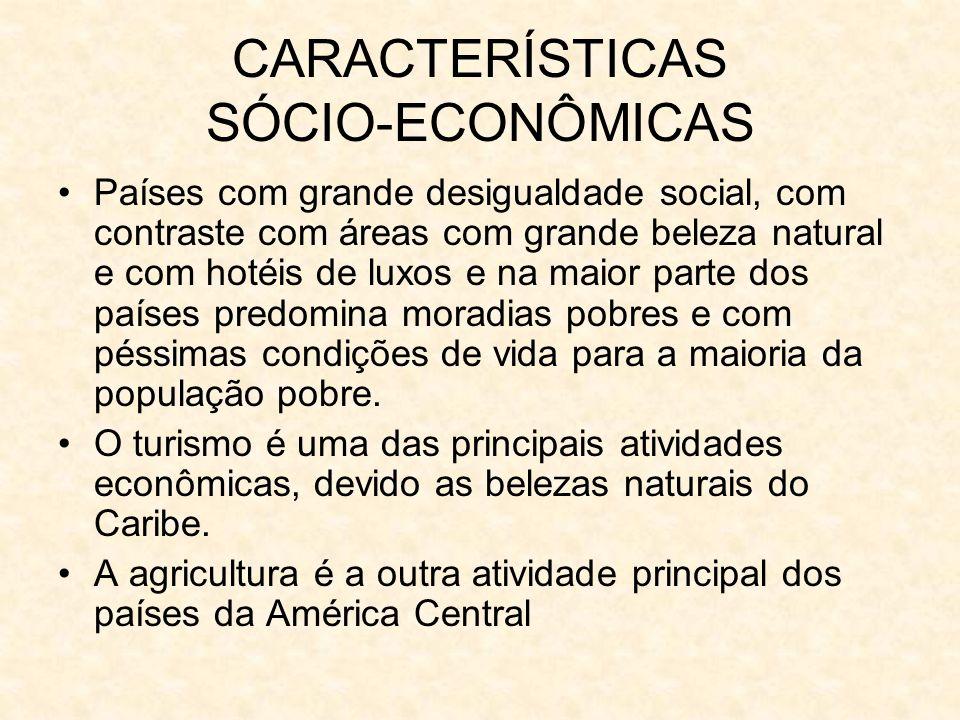 CARACTERÍSTICAS SÓCIO-ECONÔMICAS