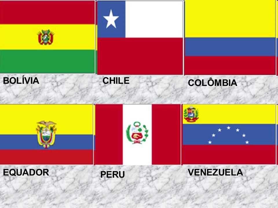 BOLÍVIA CHILE COLÔMBIA EQUADOR VENEZUELA PERU