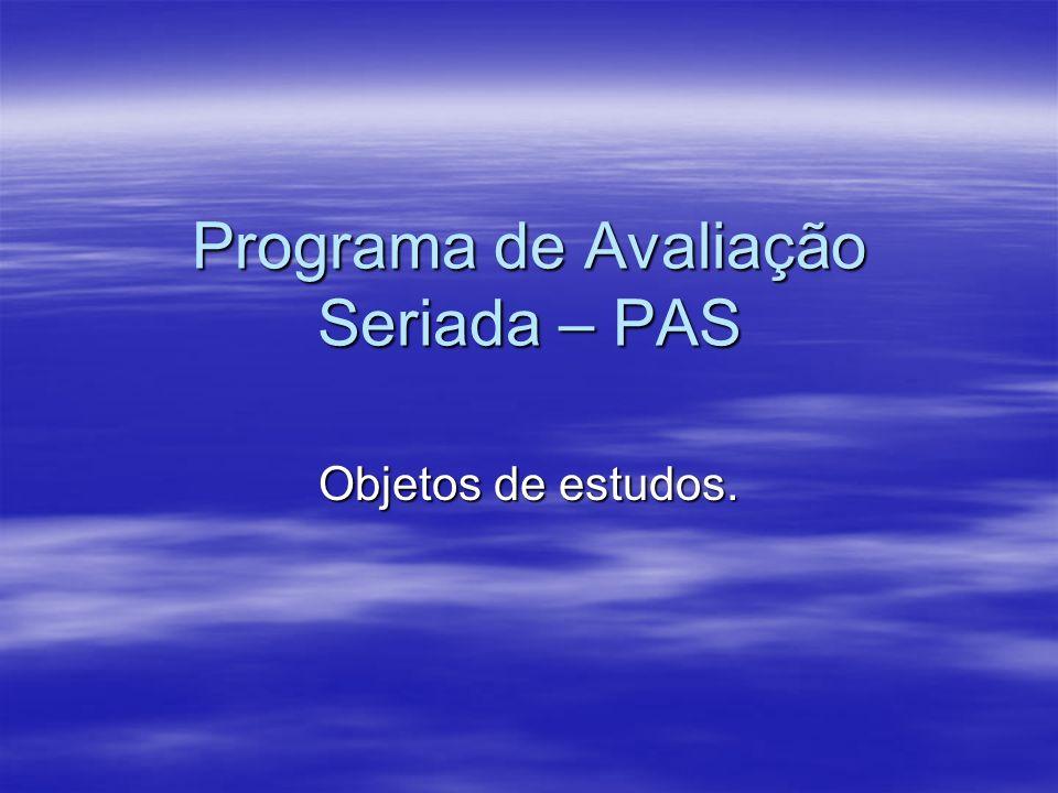 Programa de Avaliação Seriada – PAS