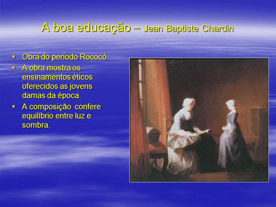 A boa educação – Jean Baptiste Chardin