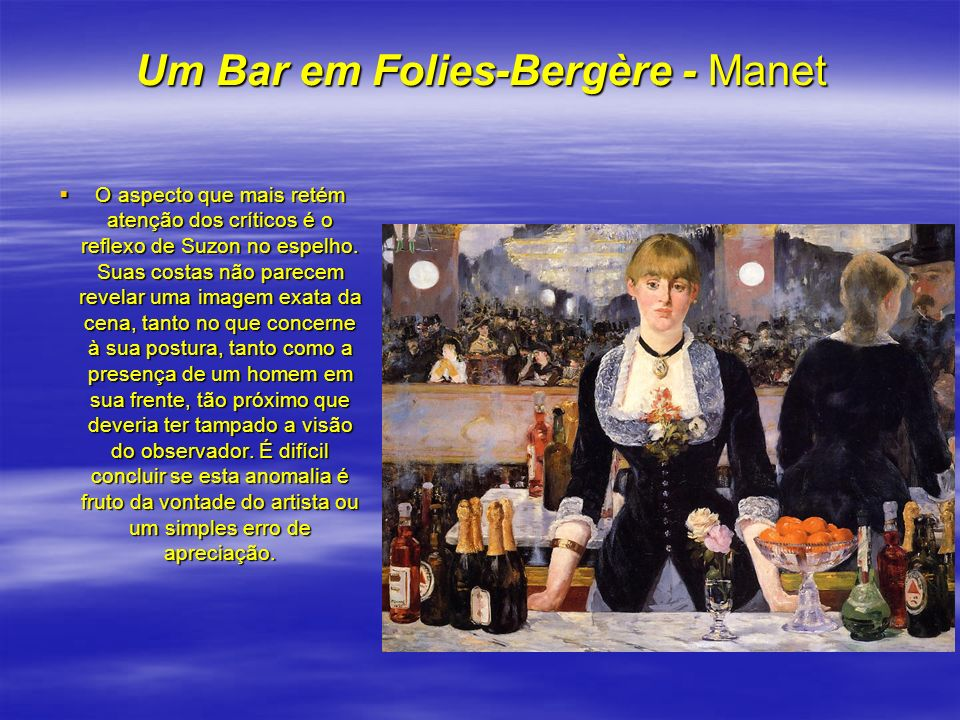 Um Bar em Folies-Bergère - Manet
