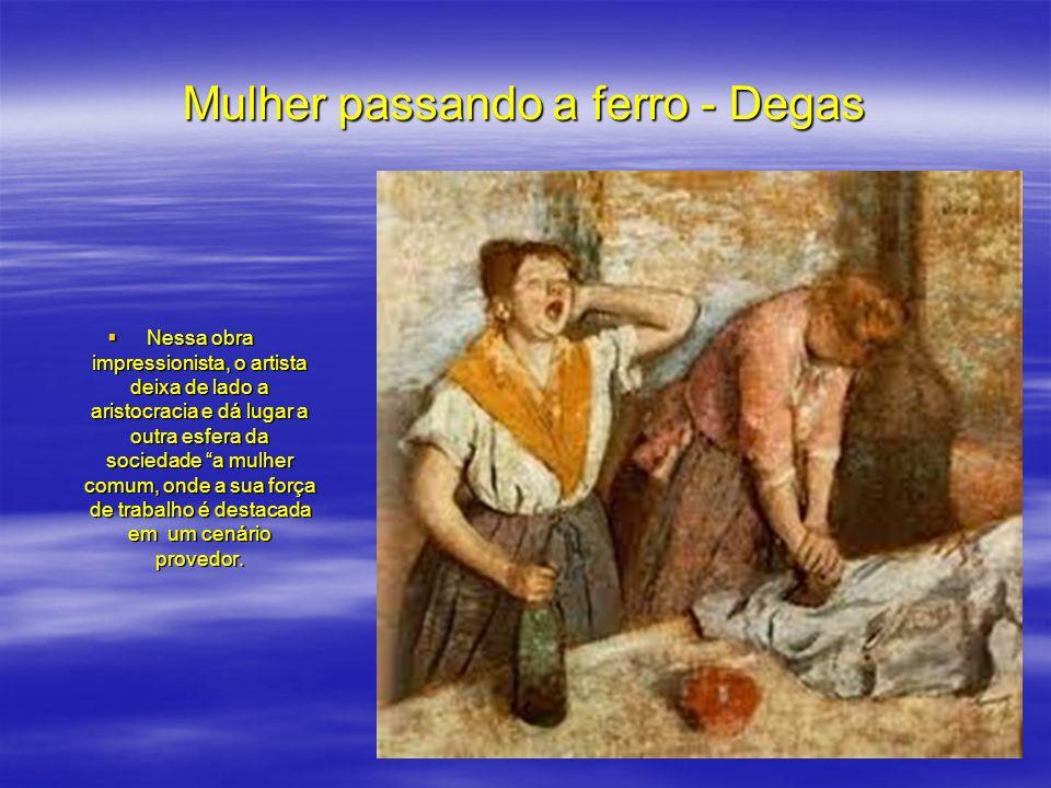 Mulher passando a ferro - Degas
