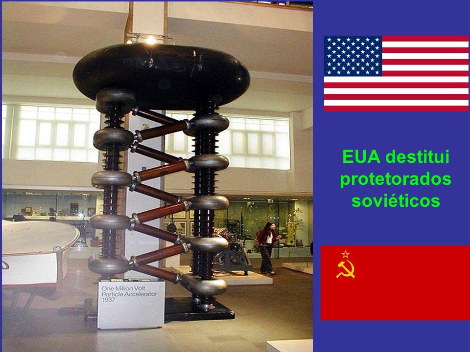 EUA destitui protetorados soviéticos