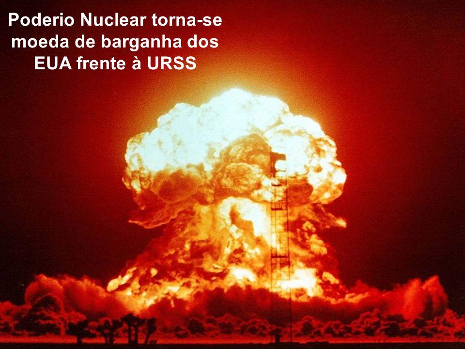Poderio Nuclear torna-se moeda de barganha dos EUA frente à URSS