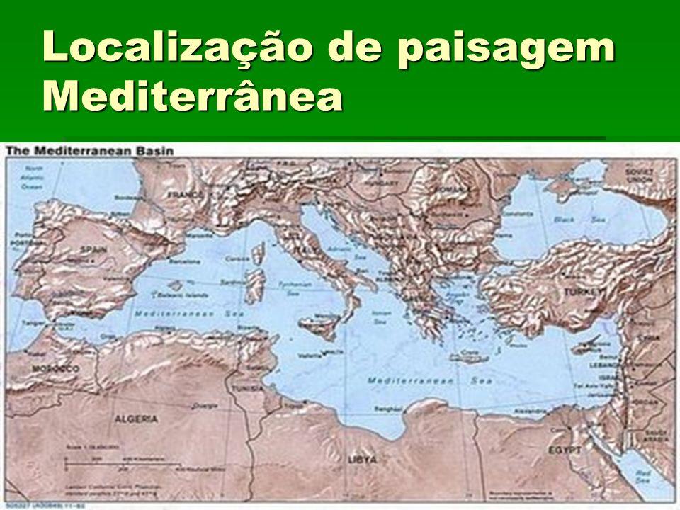 Localização de paisagem Mediterrânea