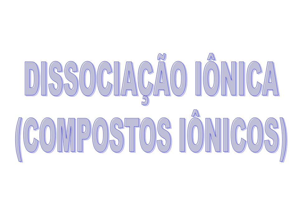 DISSOCIAÇÃO IÔNICA (COMPOSTOS IÔNICOS)
