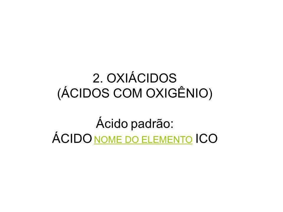 ÁCIDO NOME DO ELEMENTO ICO