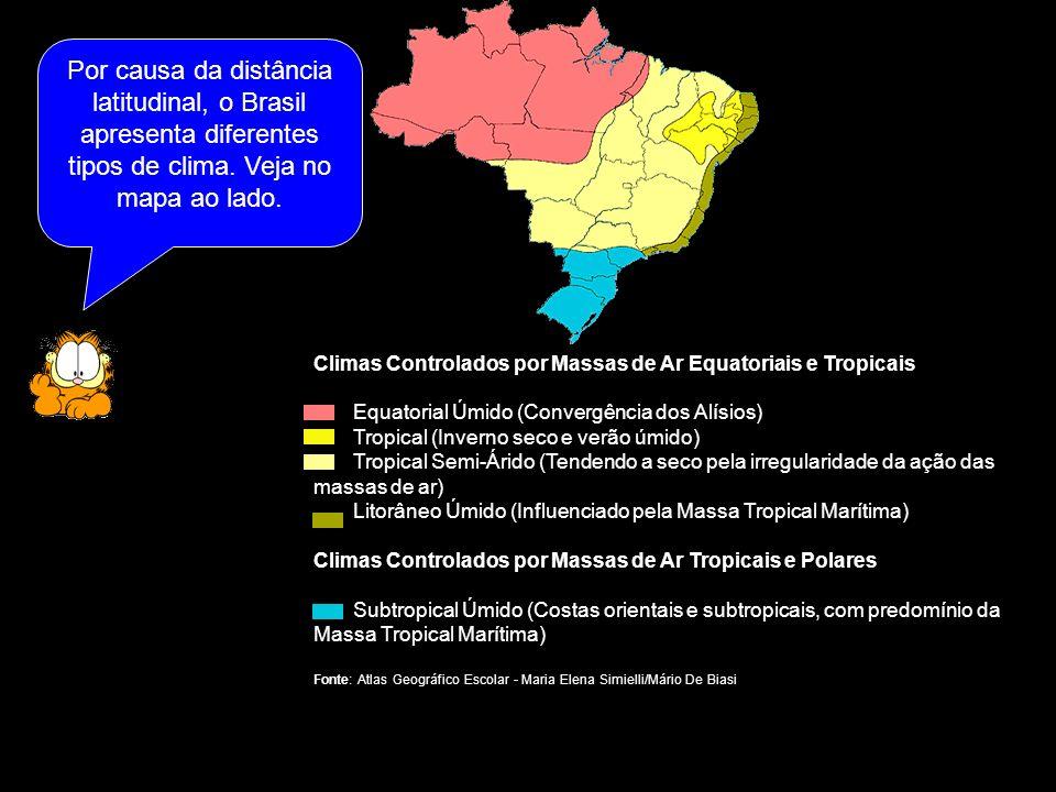 Climas que ocorrem no Brasil