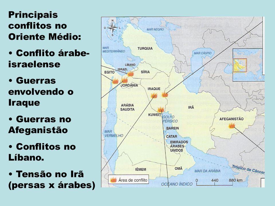 Principais conflitos no Oriente Médio: