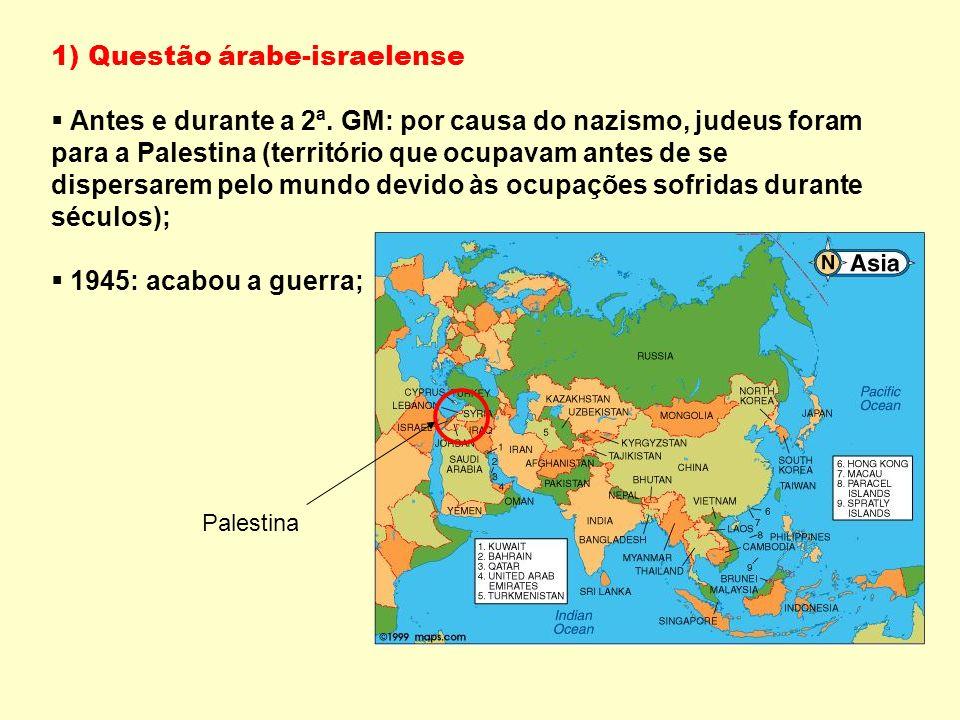 1) Questão árabe-israelense